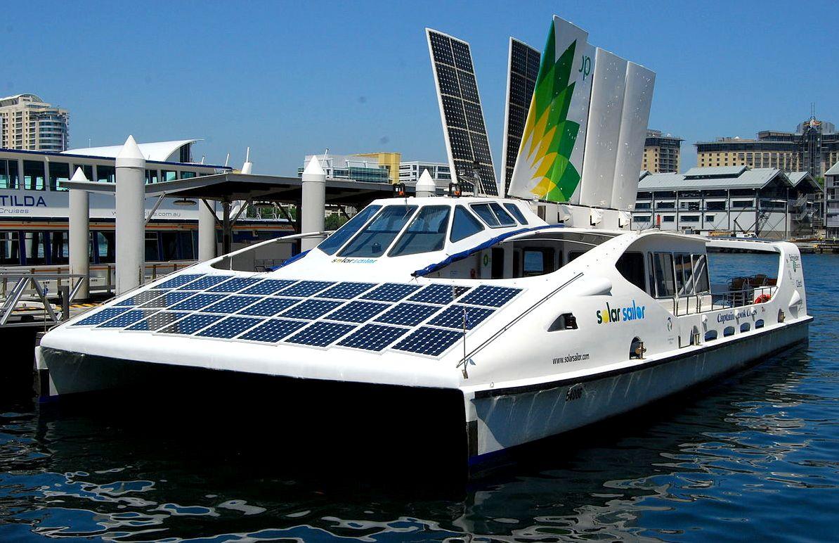 Solar Sailor, BP sponsored passenger ferry, Sydney Harbour, Australia