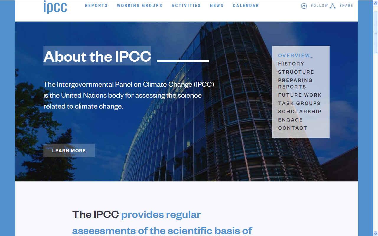 IPCC PANEL CLIMATE CHANGE INTERGOVERNMENTAL UNITED NATIONS