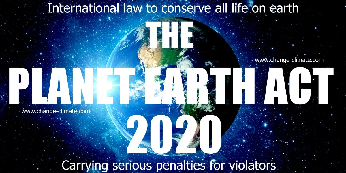 An International Convention to outlaw the taking of life on earth by action or inaction